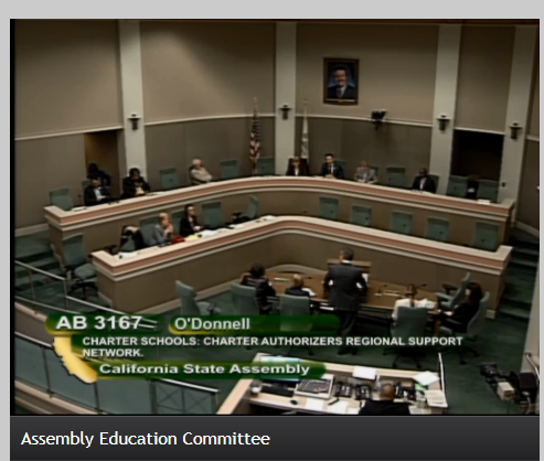 Assembly Education Hearing – April 11, 2018 – AB3167